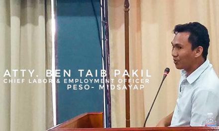 Sanggunian authorizes Mayor Arańa to enter into contract with barangay employment service coordinators