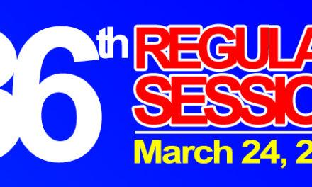 36TH REGULAR SESSION OF SANGGUNIANG BAYAN – MARCH 24, 2020