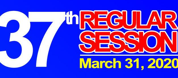 37TH REGULAR SESSION OF SANGGUNIANG BAYAN – MARCH 31, 2020