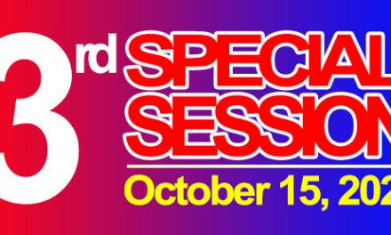 3rd SPECIAL SESSION OF SANGGUNIANG BAYAN OF MIDSAYAP – October 15, 2020