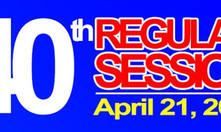40th Regular Session of Sangguniang Bayan of Midsayap – April 21, 2020