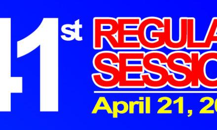 41st Regular Session of Sangguniang Bayan of Midsayap – April 28, 2020