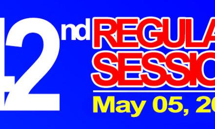 42nd Regular Session of Sangguniang Bayan of Midsayap – May 05, 2020