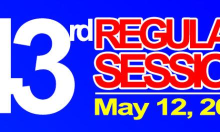 43rd Regular Session of Sangguniang Bayan of Midsayap – May 12, 2020