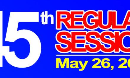 45th Regular Session of Sangguniang Bayan of Midsayap – May 26, 2020