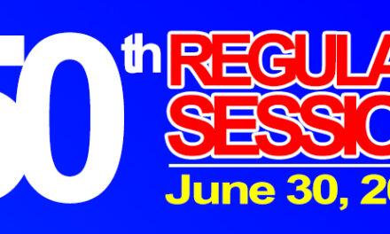 50th REGULAR SESSION OF SANGGUNIANG BAYAN OF MIDSAYAP – JUNE 30, 2020