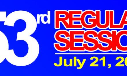 53rd REGULAR SESSION OF SANGGUNIANG BAYAN OF MIDSAYAP – JULY 21, 2020
