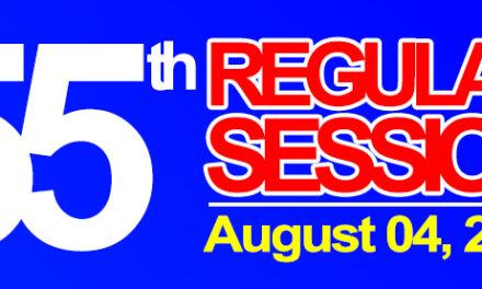 55th REGULAR SESSION OF SANGGUNIANG BAYAN OF MIDSAYAP – August 04, 2020