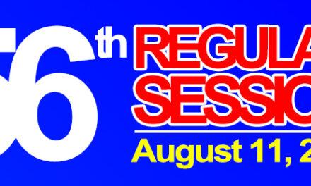 56th REGULAR SESSION OF SANGGUNIANG BAYAN OF MIDSAYAP – August 11, 2020