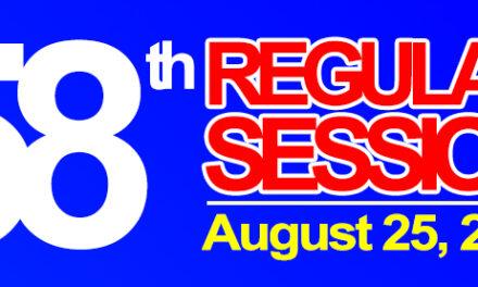 58th REGULAR SESSION OF SANGGUNIANG BAYAN OF MIDSAYAP – August 25, 2020