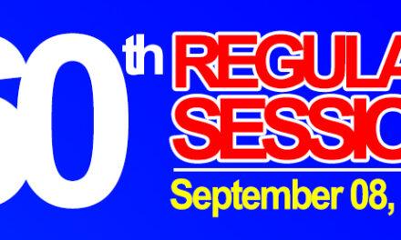 60th REGULAR SESSION OF SANGGUNIANG BAYAN OF MIDSAYAP – September 08, 2020
