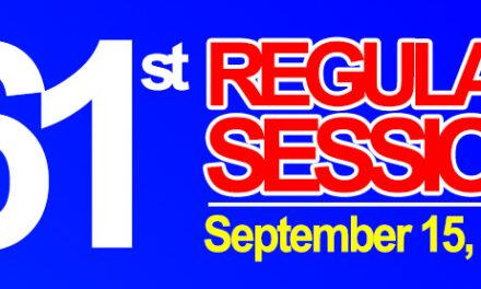 61st REGULAR SESSION OF SANGGUNIANG BAYAN OF MIDSAYAP – September 15, 2020
