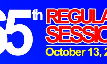 65th REGULAR SESSION OF SANGGUNIANG BAYAN OF MIDSAYAP – October 13, 2020