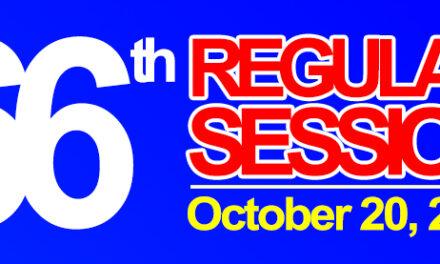 66th REGULAR SESSION OF SANGGUNIANG BAYAN OF MIDSAYAP – October 20, 2020