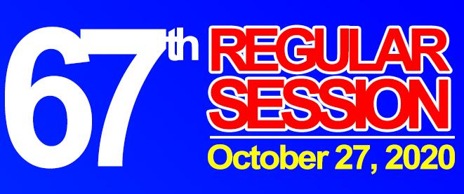 67th REGULAR SESSION OF SANGGUNIANG BAYAN OF MIDSAYAP – October 27, 2020
