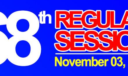 68TH REGULAR SESSION OF SANGGUNIANG BAYAN OF MIDSAYAP – November, 2020