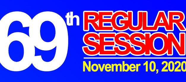 69TH REGULAR SESSION OF SANGGUNIANG BAYAN OF MIDSAYAP – November 10, 2020