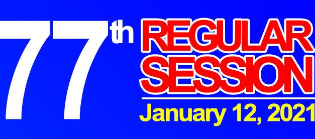 77TH REGULAR SESSION OF SANGGUNIANG BAYAN OF MIDSAYAP – January 12, 2021