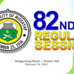 82ND REGULAR SESSION OF SANGGUNIANG BAYAN OF MIDSAYAP – FEBRUARY 16, 2021