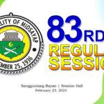 83RD REGULAR SESSION OF SANGGUNIANG BAYAN OF MIDSAYAP – FEBRUARY 23, 2021