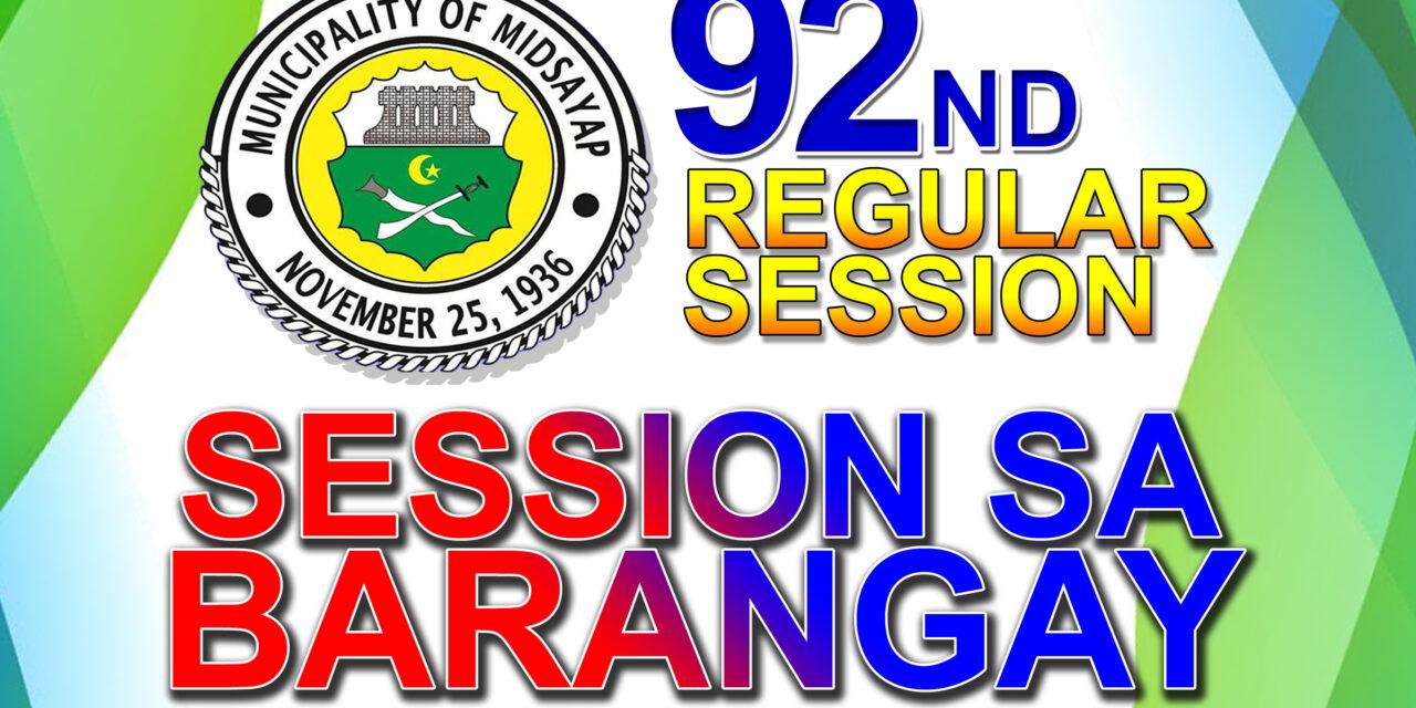 92ND REGULAR SESSION OF SANGGUNIANG BAYAN OF MIDSAYAP – APRIL 27, 2021