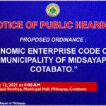 "Proposed Ordinance: ""ECONOMIC ENTERPRISE CODE OF THE MUNICIPALITY OF MIDSAYAP, COTABATO"